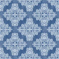Quill Crest Pattern Mural Wallpaper