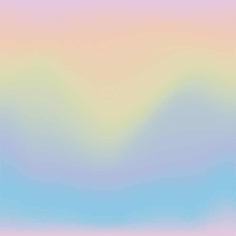 Rainbow Pastel Ombre Wall Mural