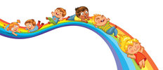 Rainbow Slide Wall Mural