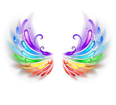 Rainbow Wings Wallpaper Mural