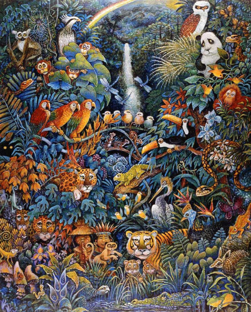 Rainforest Wallpaper Mural