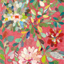 Red and Pink Dahlia Mural Wallpaper