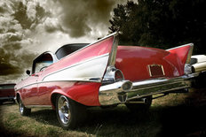 Red Classic Car Wall Mural