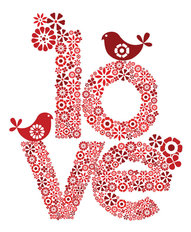 Red Love Wall Mural