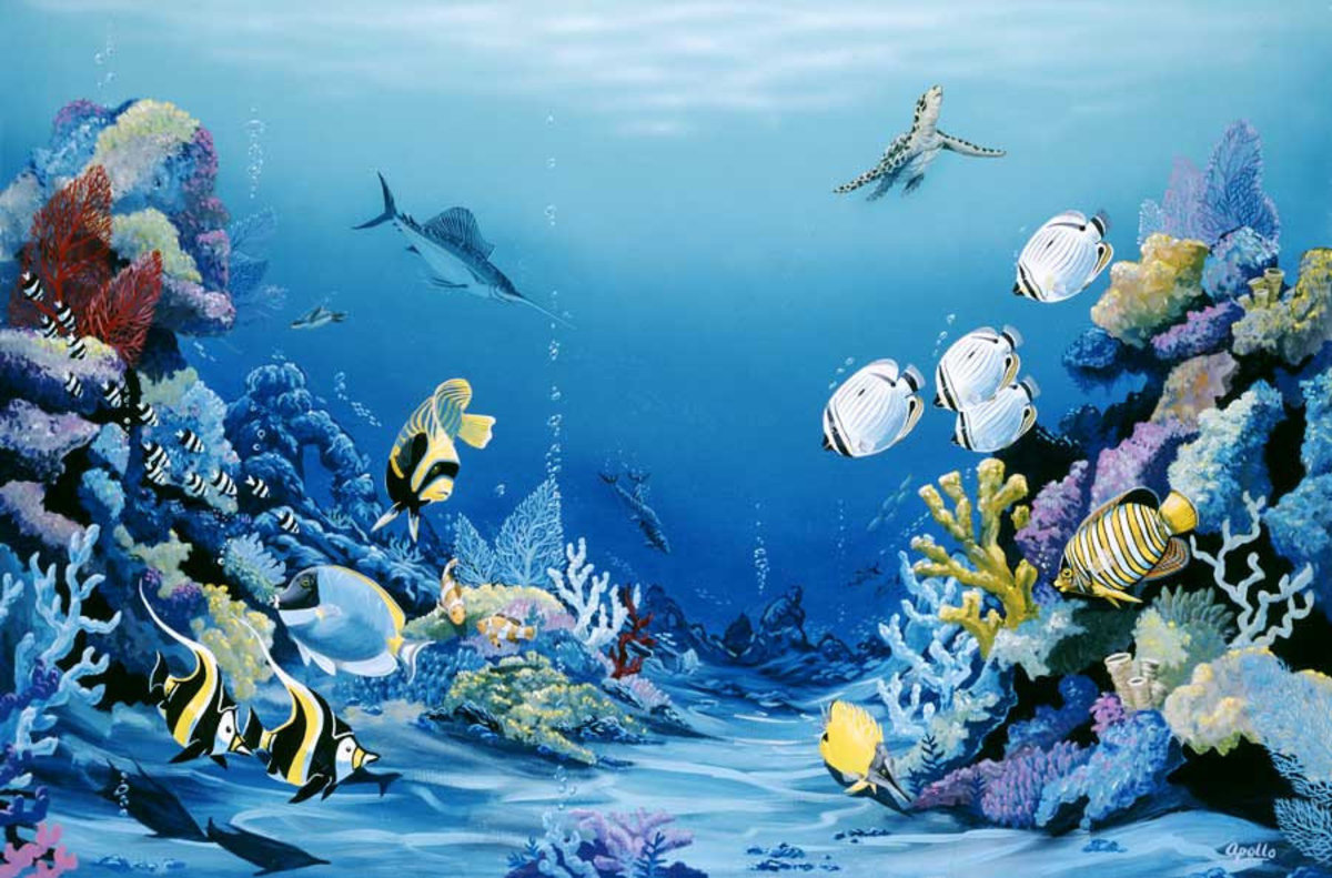 Reef Delight Wall Mural