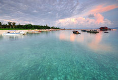 Sunrise Reflection Mabul Island Wallpaper Mural