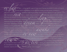 Restful-Purple Mural Wallpaper