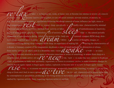 Restful-Red Mural Wallpaper