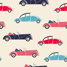 Retro Car Pattern Wallpaper