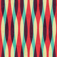 Retro Curves Pattern Wallpaper