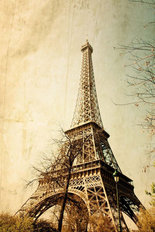 Retro Eiffel Tower Wall Mural