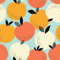 Retro Fruit Pattern - Summer Wallpaper