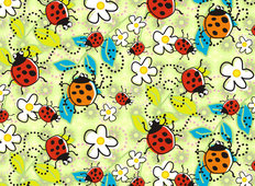 Retro Ladybugs Wallpaper Mural