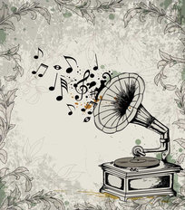 Gramophone Music Wallpaper Mural