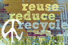 Reuse, Reduce, Recycle Wall Mural