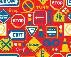 Road Signs - Red Wallpaper