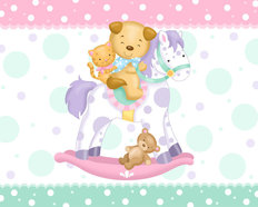 Rocking Horse Wallpaper Mural