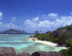 Rocks, Sand, Water-The Seychelles Mural Wallpaper