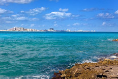 Rocky Seascape Cancun Wallpaper Mural