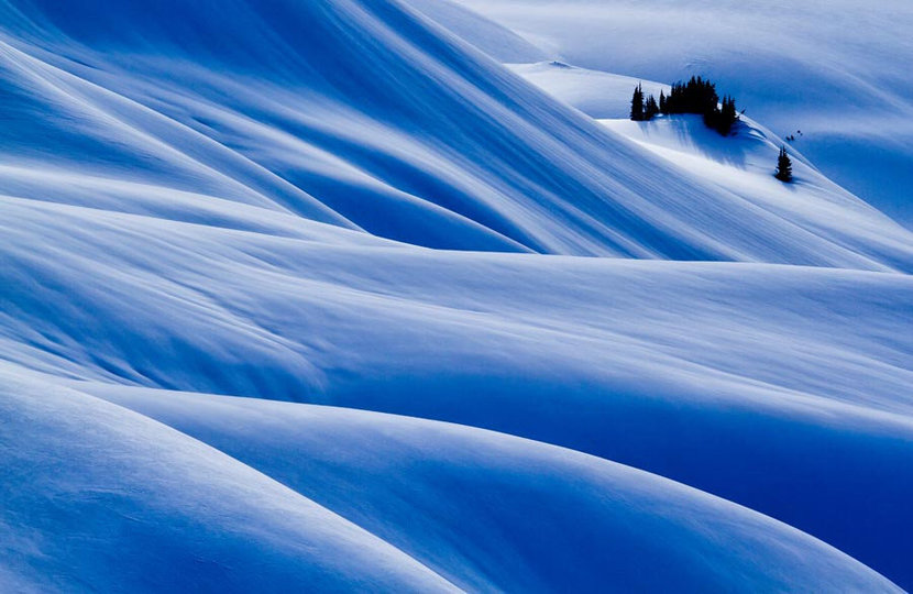 Rolling Snow, North Cascades Wall Mural