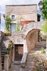 Romantic Italian Stone Village Wallpaper Mural