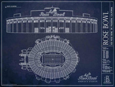 Rose Bowl Blueprint Wall Mural