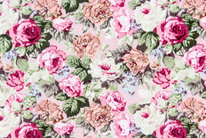 Rose Fabric From Retro Tapestry Wall Mural