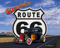 Route 66 (Daytime) Mural Wallpaper