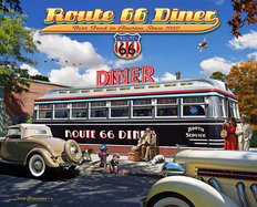 Route 66 Diner Mural Wallpaper