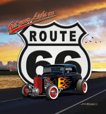 Route 66 (Sunset) Mural Wallpaper