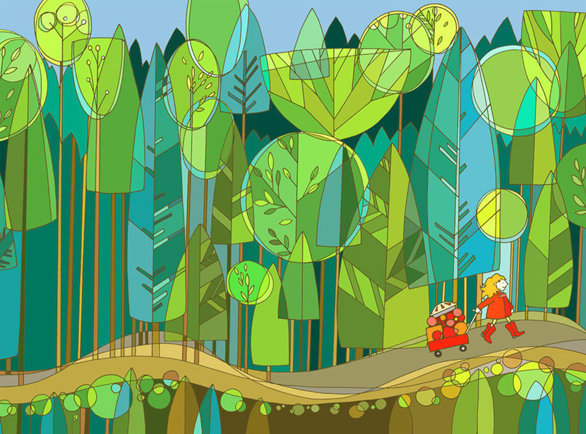 Ruby In Forest Wall Mural