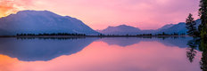 Rundle Forebay Reservoir At Sunset Wall Mural