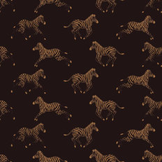 Running Zebra Pattern Wallpaper