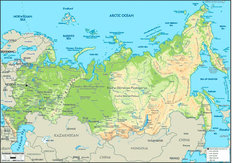 Russia Map Mural Wallpaper