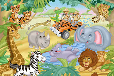 Safari Adventure Wallpaper Mural