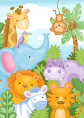 Safari Friends Wallpaper Mural