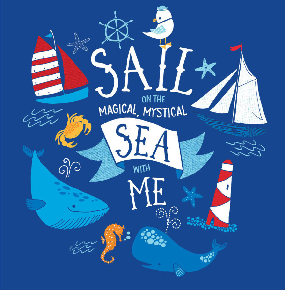 Sail With Me Wall Mural