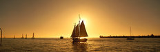 Sailboat, Key West, Florida Mural Wallpaper