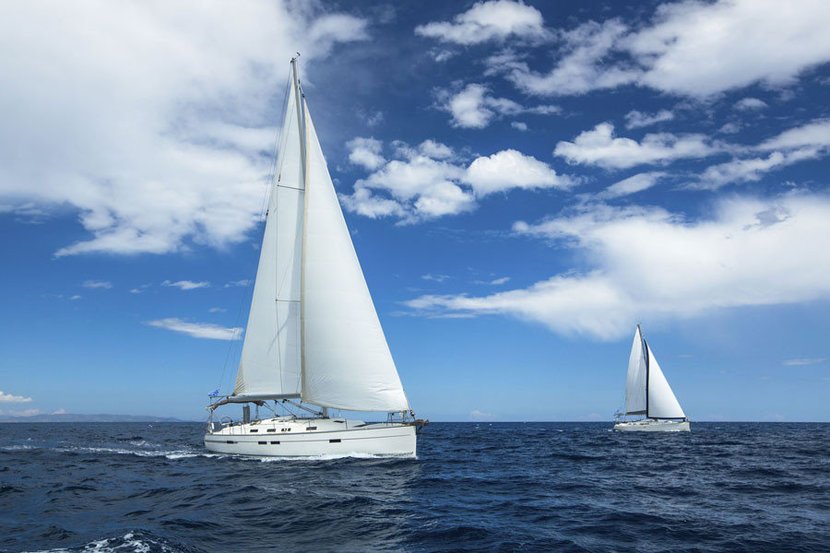 Two regattas sail on the high seas and race one another