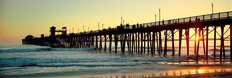 San Diego Pier At Sunset Wallpaper Mural
