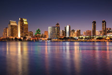 San Diego Skyline Mural Wallpaper