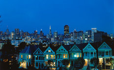 San Francisco At Twilight Mural Wallpaper