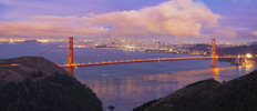 San Francisco Purple Sky Wall Mural
