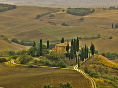 San Quirico Val D' Orcia Valley, Tuscany Mural Wallpaper
