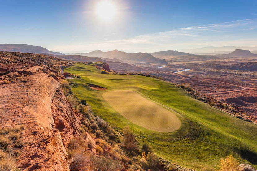 Sand Hollow Golf Course, Hole #13 Wall Mural