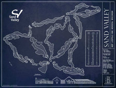 Sand Valley Golf Course Blueprint Wall Mural