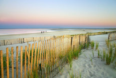 Sandy Beach At Twilight Wallpaper Mural