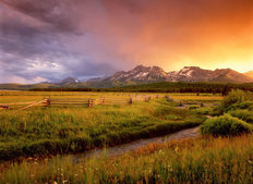 Sawtooth Mountains Wall Mural