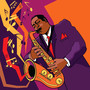 Saxophonist On Stage Illustration