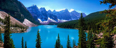 Scenic View Of Moraine Lake Wall Mural